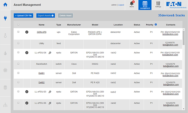 Asset Management Screen Shot